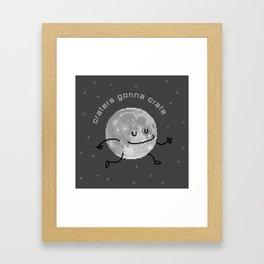 Craters Gonna Crate (8bit) Framed Art Print