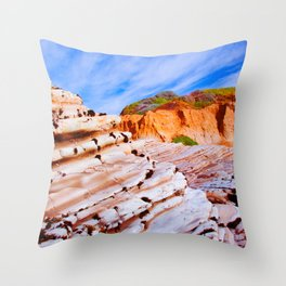 Rock Steps  Throw Pillow