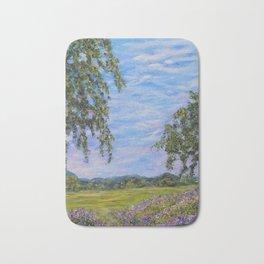 Moments In Time, Impressionism Landscape Bath Mat