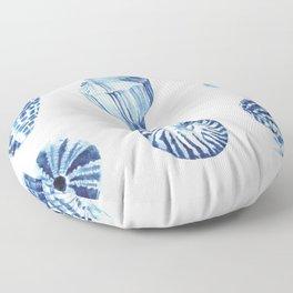Watercolor seashell print Floor Pillow