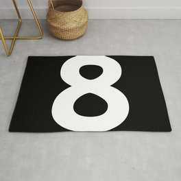 Number 8 (White & Black) Rug