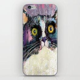 Big eyed tuxedo cat iPhone Skin