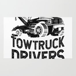 God Created Tow Truck Drivers Rug