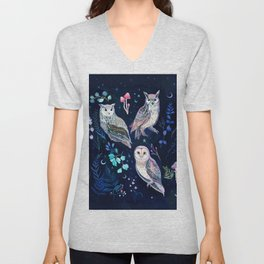 Night Owls Unisex V-Neck