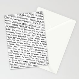 Banned Literature Internationally Print Stationery Cards