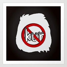 Dun Kur Bear [Don't Care Bear Black/Panda] Art Print