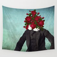 romantic Wall Tapestries featuring MR. Romantic by Diogo Verissimo