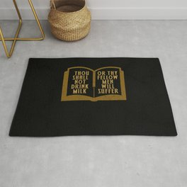 Dairy Free Dairy Allergy Awareness Commandment Bible Rug