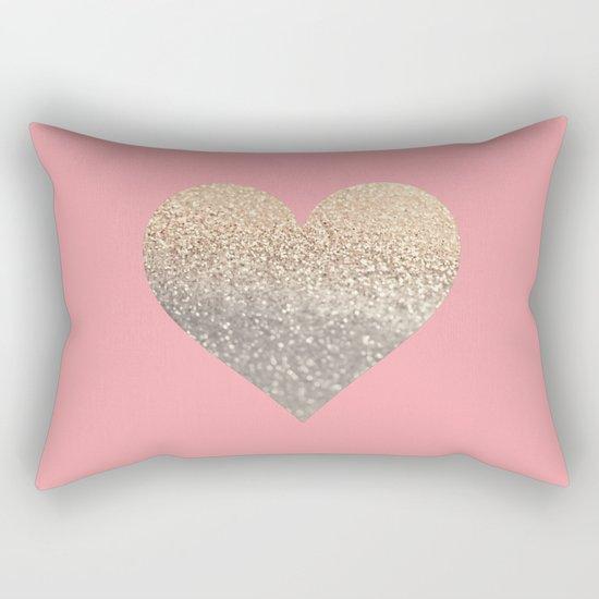GOLD HEART CORAL Rectangular Pillow