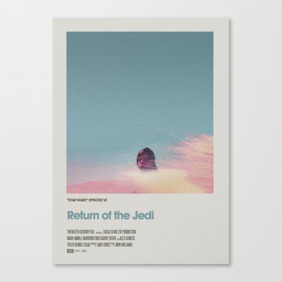 Retro Cinema Poster:Return of the Jedi Canvas Print