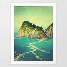 Heading towards Ohzu Art Print