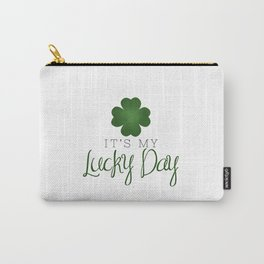 It's My Lucky Day | Four Leaf Clover Carry-All Pouch
