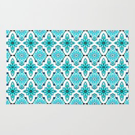 Turquoise Moroccan tile Rug
