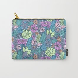 Flowering Succulents Carry-All Pouch