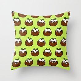Christmas Pudding Pattern Throw Pillow