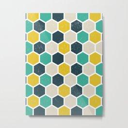 Hexagonal Geometric Metal Print