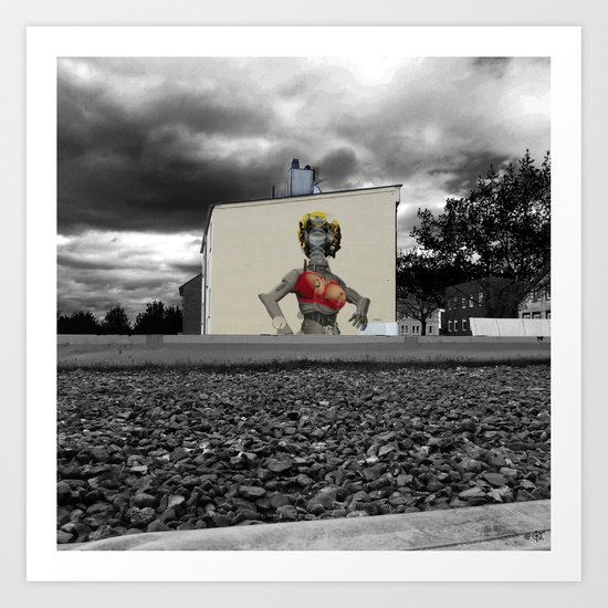 StreetArt Invasion 6 - Marilyn Art Print