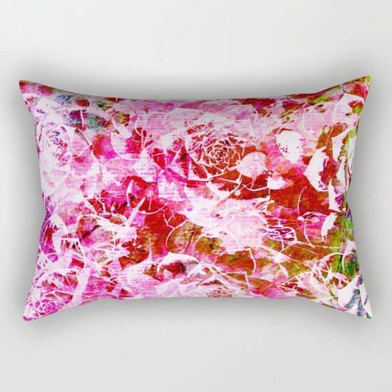 abstract succulent in pink Rectangular Pillow