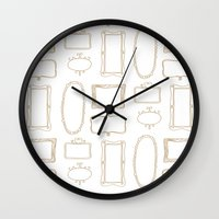 frames Wall Clocks featuring Frames by Sarah Liddell