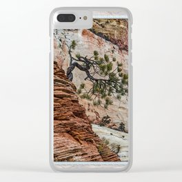 SANDSTONE AND PINE Clear iPhone Case