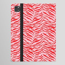 Tiger Print - Red and Pink iPad Folio Case