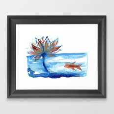 The Lotus and the Goldfish Framed Art Print