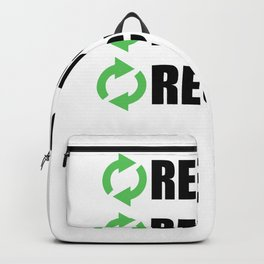 Reduce Reuse Recycle Backpack