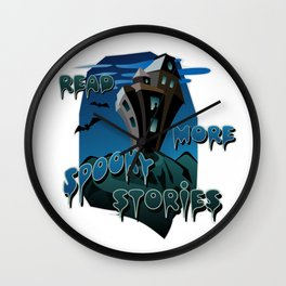 Read More Spooky Stories Wall Clock