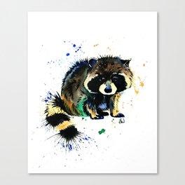 Raccoon - Splat Canvas Print
