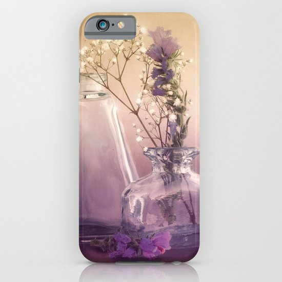 STILL LIFE with purple glass vases and flowers iPhone & iPod Case