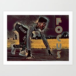 Focus African American Male Art Print