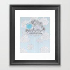 Cross-Section of a Cloud Framed Art Print
