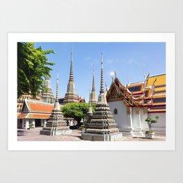 Stupas in Wat Pho, Bangkok Art Print