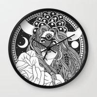 taurus Wall Clocks featuring Taurus by Jadranka Lacković / ojoMAGico