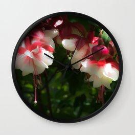 Gorgeous Fuchsias Wall Clock