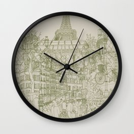 Paris! Musty Wall Clock