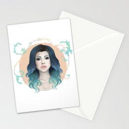 Mermaid Hair Stationery Cards