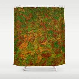 Abstract Garden Shower Curtain