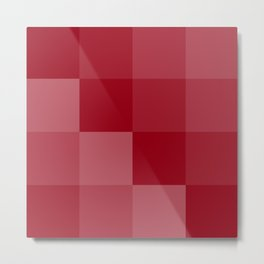Four Shades of Red Square Metal Print