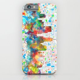 indianapolis city skyline watercolor 6 iPhone Case