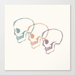 Triplet Skulls Canvas Print