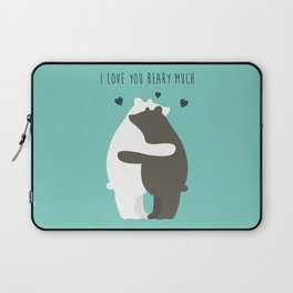 I Love You Beary Much Laptop Sleeve