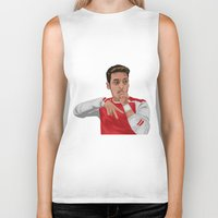 arsenal Biker Tanks featuring Mesut Ozil by siddick49