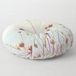 Beach Flowers Floor Pillow
