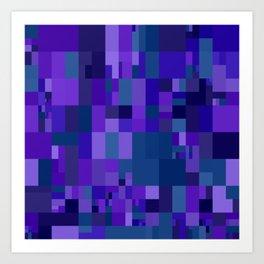 dark violet mosaic Art Print