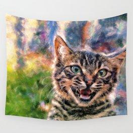 Hello Wild Little Beast Wall Tapestry