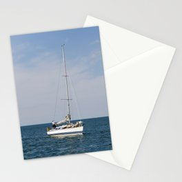 Sailing calm waters Stationery Cards