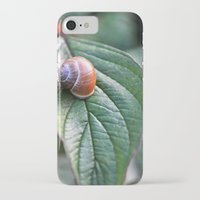snail iPhone & iPod Cases featuring snail by  Agostino Lo Coco