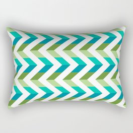 Chevron Picnic Time - Geometric pattern with blue and green Rectangular Pillow