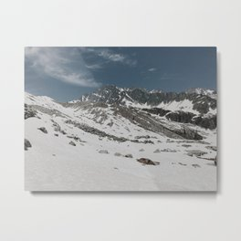 Glacier Snowfield Metal Print